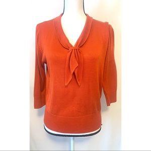 R.Q.T. size medium petite orange sweater